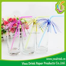 Party Favorable Firework Beautiful Umbrella Shape Plastic Drinking Straw