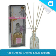 150 ml aromatic diffuser in glass bottle with rattan sticks/glass bottle reed diffuser /rattan sticks diffuser for air freshener