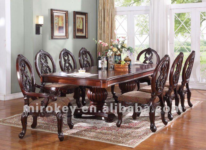 Tradicional muebles de comedor conjunto antiguos de for Muebles de comedor antiguos