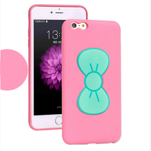 Luxury Kickstand Bowknot Case Silicone Soft Bowtie Case Cover For Apple iPhone 6, For iPhone 6/ 6 Plus Bowknot Stand Case Cover