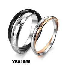 Top wedding bands factory, 2015 new mens womens stainless steel jewelry wedding ring, couple wedding rings
