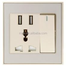 UK / USA American style dual USB port wall mounted sockets