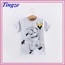 Hot sale fashion children boy clothing despicable me minion kids t-shirts HZDE68