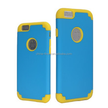 2-in-1 heavy duty PC+Silicone case for iPhone 6