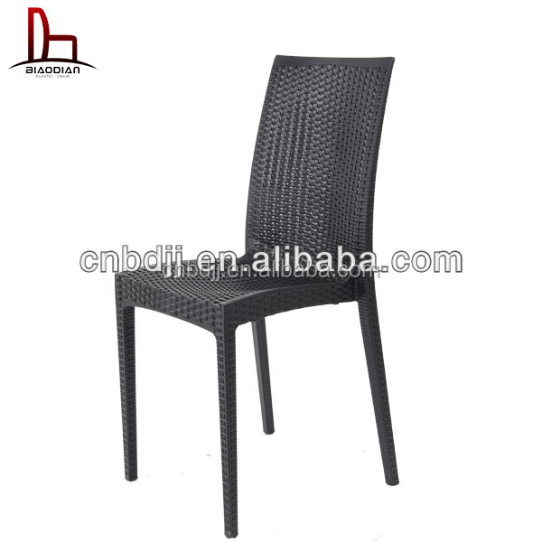Modern Stackable Dining Chair And Table Set Luxury Plastic Outdoor Garden Rat
