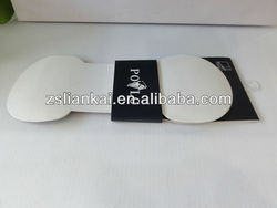 Delicate paper hanger and packaging for men's socks with display information