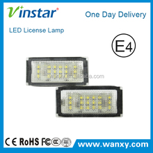 New design Internal Warnning canceller auto led license light car led license light with ce rohs e4 certificates