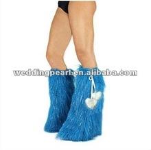 2012 hot selling fashion faux fur leg warmer