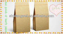 2012 hot sales kraft stand up pouch from manufacturer