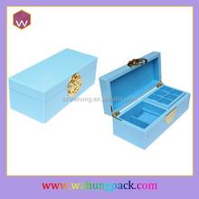 mini wooden treasure chest jewelry box,blue wooden jewelry box wholesale