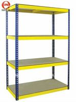 Warehouse boltless rivet shelving