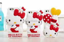 combination price 3D Crystal smart silicone hello kitty leather case for ipad for iphone iphone6/6s
