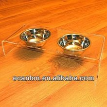 fancy personalized acrylic dog bowls
