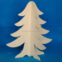 New custom carved wood crafts christmas decoration ornaments artificial wood Christmas tree