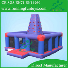 Funny Cheap inflatable climbing wall with obstacle