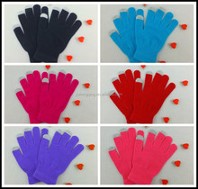 Fashion warm wholesale acrylic touch screen gloves for all smart mobile phone and tablet PC