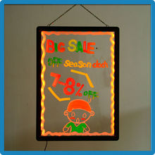 Best selling products 2014 usa transparent rewritable illuminated sandwich board sign board