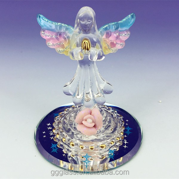 Hand blown small glass angel figurines buy