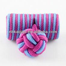 Fashion low price silk knot cufflinks for wedding