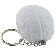 MCH130 Anatomical Human Brain Key Chain in Pewter, Neurology Science, Neurologist