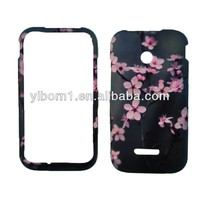 Grey Pink Flowers Water Transfer Printing Back Cover for Huawei U8686