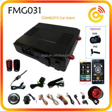 GSM Two Way Car Alarms that call cell phone with APP Keyless Entry system