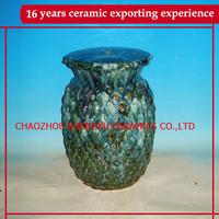 home and garden decorative ceramic pineapple stool