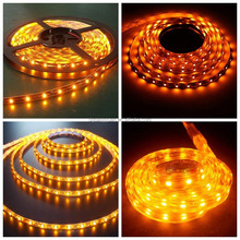 amber flexible 5050 waterproof led strip light factory price whole sale