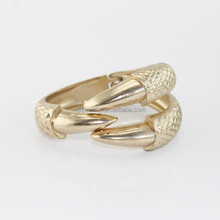 Beautiful design style wholesale gold owl claw bangle cuff