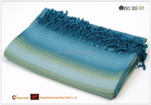 2015 most popular jacquard woven bamboo plaid throw blanket