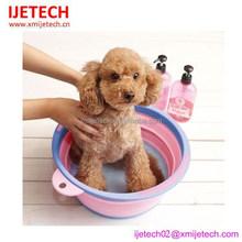 colorful mini collapsible plastic pet bath tub
