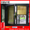 Standard China Supplier Aluminum Single Tempered Glass Casement Windows With Blinds Hot Sale