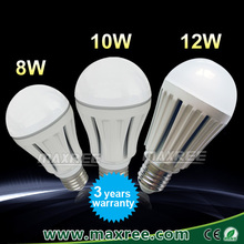 High quality pure aluminium led lamp bulb e27, 8W 10W 12W LED bulb lamp