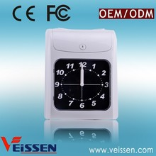 New innovation auto detecting card side electronic time recorder