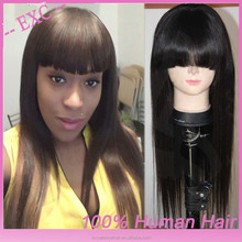 china supplier 2015 hot selling grade 5a raw unprocessed russian human hair wig