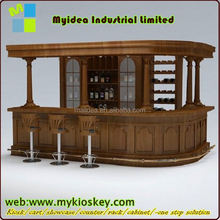 Sound blue lighting acrylic solid surface bar furniture bar counters design movable bar counter