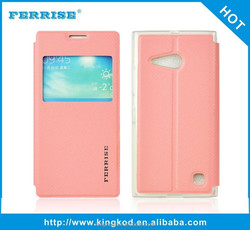 New design stand view cell phone PU leather flip cover case for oppo r5