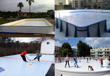 portable uhmw-pe synthetic ice rink,plastic board,synthrtic ice skating rink