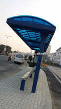 Street use metal bus stop shelters design