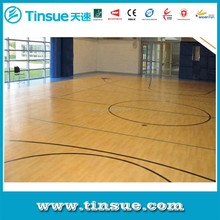 PVC wood grain basketball flooring with fast delivery