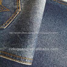 13.5oz tejido de algodón de mezclilla tela para hacer jeans y chaquetas