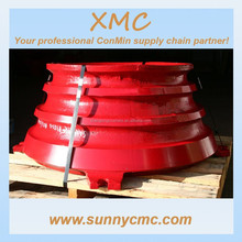 Mn13 Cr2 Mn18 High Manganese Spare Parts Bowl Liner Cone Crusher Concave