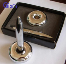 2015 best selling cheap magnetic metal table pen with gift box