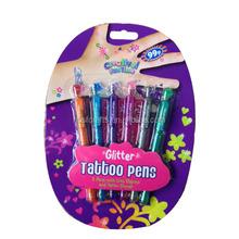 6PCS Glitter Tattoo Gel Pen