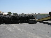 Baled Scrap Tires in bales