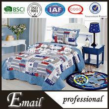 kids cartoon quilt/plain cotton bed sheets for children