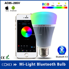 New Arrival CE Rohs UL 8W RGB Bluetooth LED Light Bulb With Music+Group+Timer Function