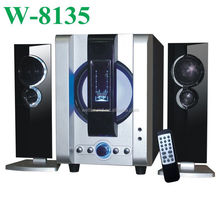 sample provided high quality portable surround sound 2.1ch bluetooth speaker with USB/SD/FM/2MIC/REMOTE CONTROL/LED DISPLAY