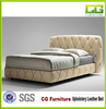 2015 high quality furniture double Cloth art bed with buttons Fabric bed