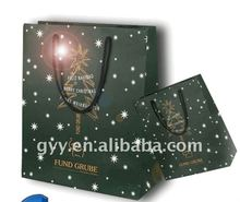 Promotional Silver Hot Stamping Paper Gift Bags For 2012 Christmas Day